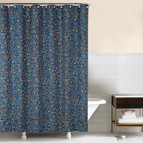 Wakefield Curtain - C&F Home, Williamsburg Wakefield Fabric Shower Curtain Blue, 72x72