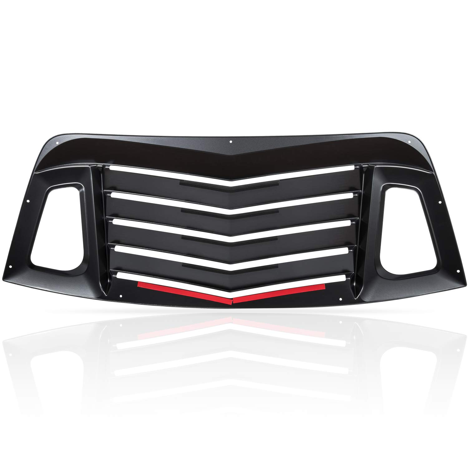 Rear Window Louvers for Dodge Challenger 2008-2020 Matte Black ABS Window Visor Sun Shade Cover Vent