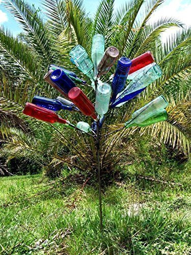 Big 28 Wine Bottle tree ~ Yard and Garden Decor.FREE SHIP ~ Perfect size in Southern Classic tradition. Proudly Made in the USA ! ~ FREE SHIP (lower 48) from Hopfrog Market