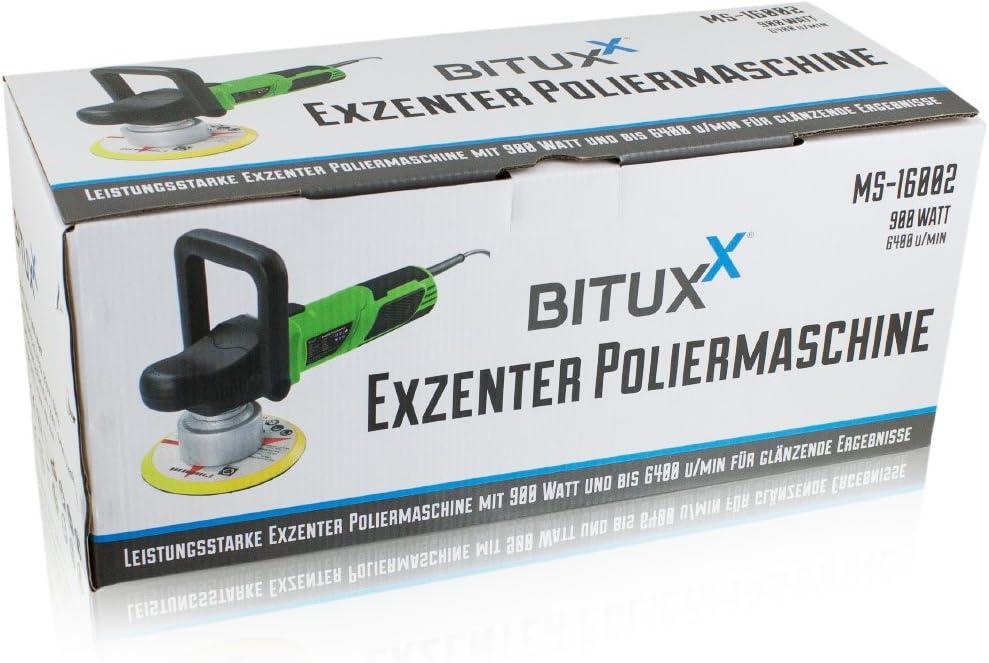 Ms Point Bituxx Profi Exzenter Poliermaschine 900 Watt Schleifmaschine Autopolierer Poliergerät Autopflege Kfz Pflege Autolackaufbereitung Inklusive Nano Politur Auto