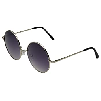 Oversized Large Round Sunglasses for Women Rainbow Mirrored