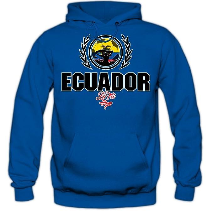 Shirt Happenz Fútbol Ecuador V2 Sudadera con Capucha | Hombre | Fútbol | Equipo Nacional |
