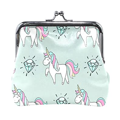 Amazon.com: Monedero colorido con diseño de unicornio y ...