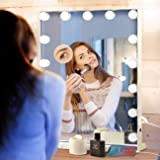 Hansong Large Vanity Mirror Makeup with Lights,Hollywood Lighted Mirror with 3 Color Lighting Modes for Tabletop Mirror…