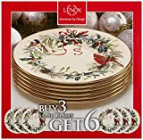 "Lenox Winter Greetings 6-Piece 8"" Salad Plates"
