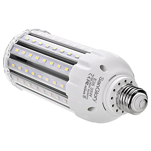 35W Super Bright LED Corn Light Bulb E26 High Output 3500Lm 6500K LED Large Area