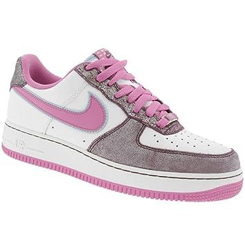 Nike Womens Air Force 1 07 White/Cool Rose-Aubergine 315115-161 Shoe 11 M US