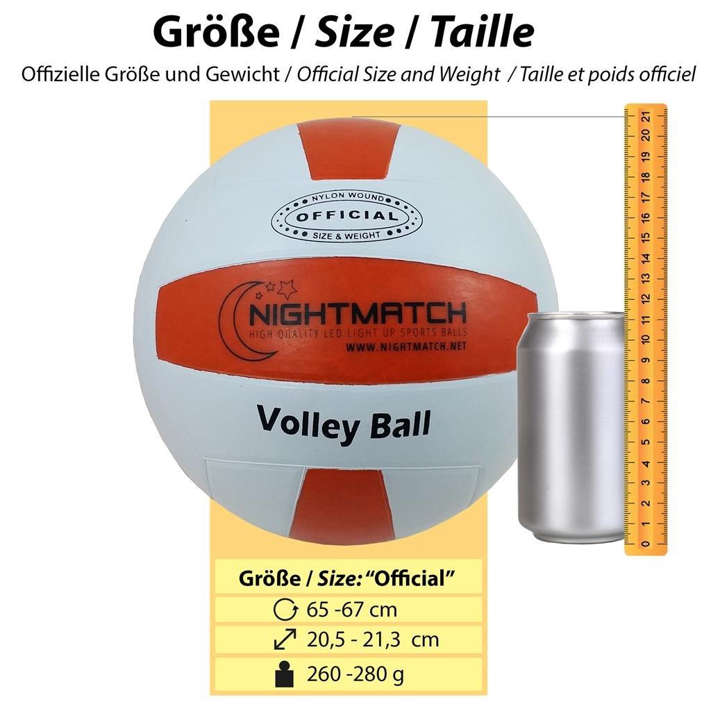 NIGHTMATCH Balón de Voleibol Ilumina Incl. Bomba de balón - LED ...