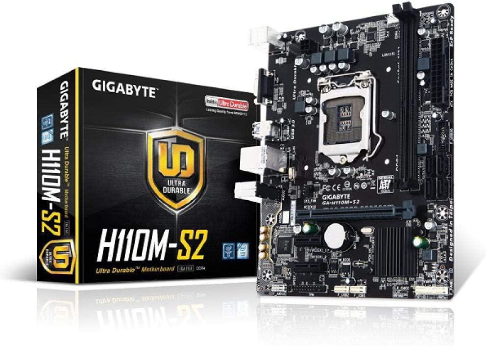 Gigabyte GA H110M S2 M-ATX Intel H110//DDR4//Double Channels//SSD//32G//USB3.0//STAT3.0//New//Can Support I7 7700K CPU//LGA 1151