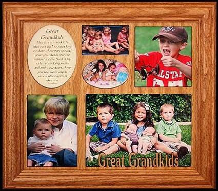 Amazon.com - GREAT GRANDKIDS ~ Photo & Poetry COLLAGE Frame ...