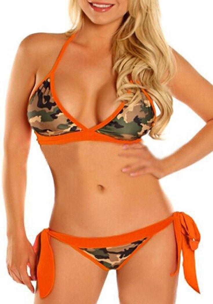 CFD Women's Camouflage Bikini Bottom Push Up Triangle Bikini Swimsuit