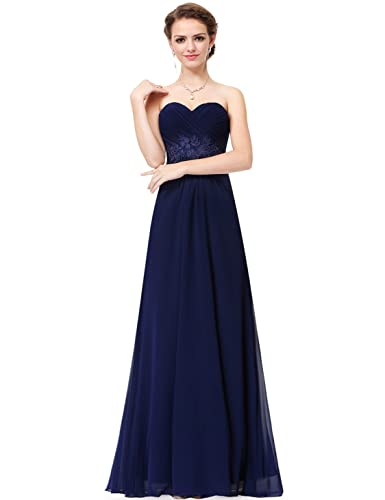 Ever Pretty Women's Strapless Long Evening Dress with Sweetheart Neckline 08864