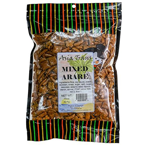 Mixed Arare Rice Crackers, 16 Ounce - Oriental style Mochi Crunch - Perfect on the go snack. Add to popcorn or trail mix. Packed fresh in Hawaii. Sweet and salty flavor (Popcorn Trail Mix)