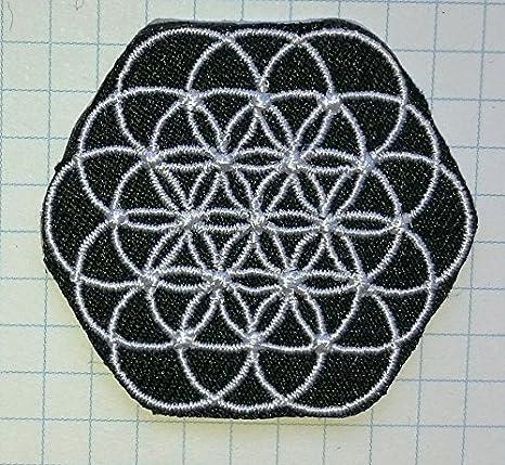 De la flor de la vida de Coldplay gamuza de bordado iron on patch: Amazon.es: Hogar