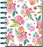 me & my BIG ideas Classic Planner Mind Happy Life, Standard, White/Floral