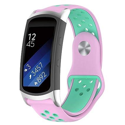 AOLVO - Correa de Silicona para Reloj Samsung Gear Fit2 Pro SM-R365, Gear Fit2 SM-R360