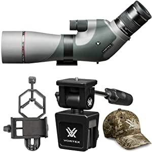Vortex Razor HD 16-48x65 Angled Spotting Scope Bundle with Smartphone Adapter and Car Window Mount (4 Items)