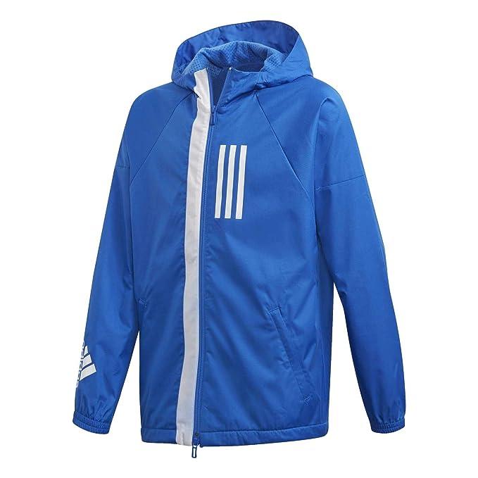 Adidas Jungen Trainingsjacke rot dunkelblau NEU