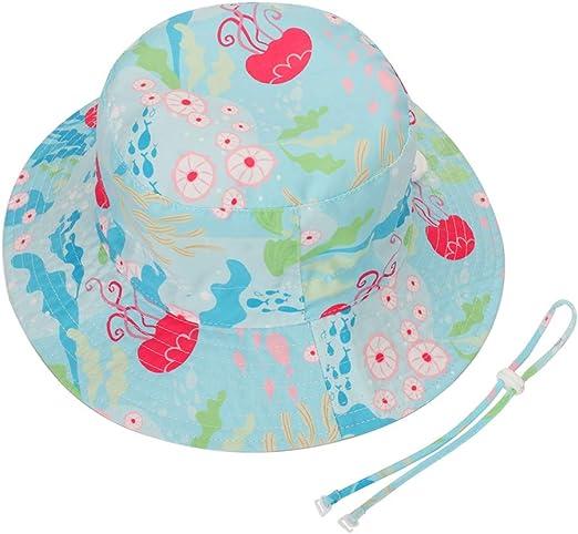 Sommerhut M/ütze for Jungen M/ädchen mit Verstellbar Kordelzug Foruhoo Baby Sonnenhut Kinder Hut