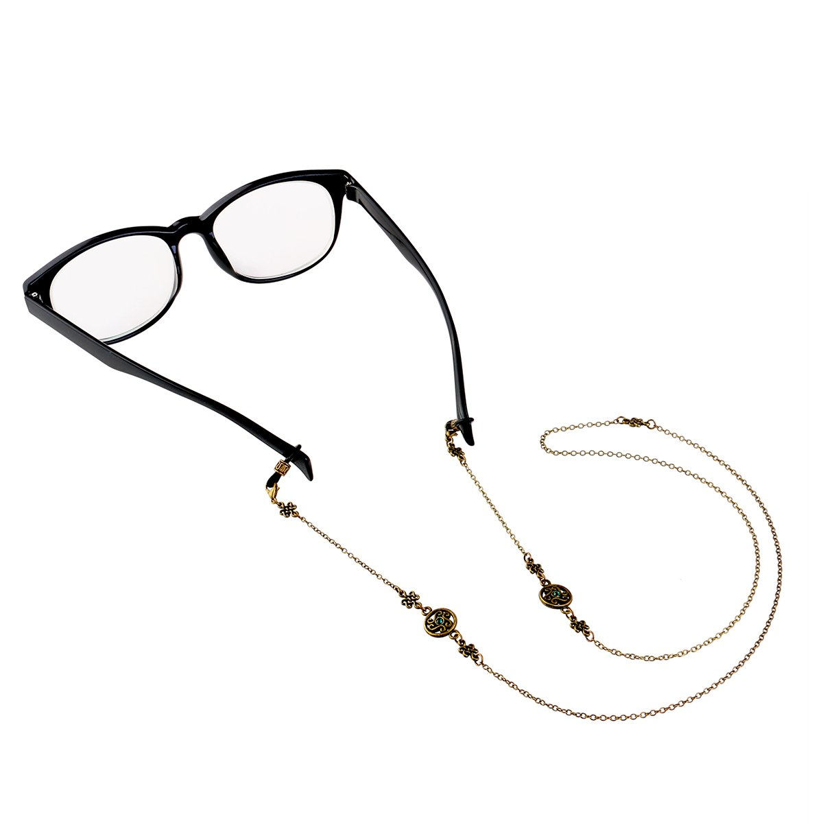 Eyeglass Not Included UEETEK Classic Bronze Eyeglasses Chain Sunglasses Chain Cord Holder