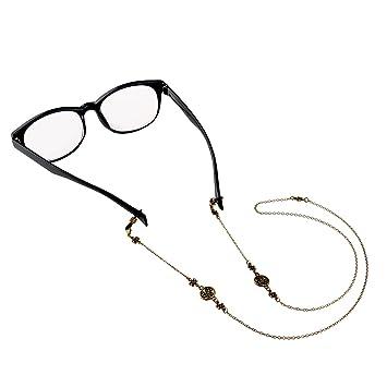 542d06bcd UEETEK Soporte del cordón cadena clásicos anteojos de bronce cadena gafas  de sol (gafas no incluidas): Amazon.es: Hogar
