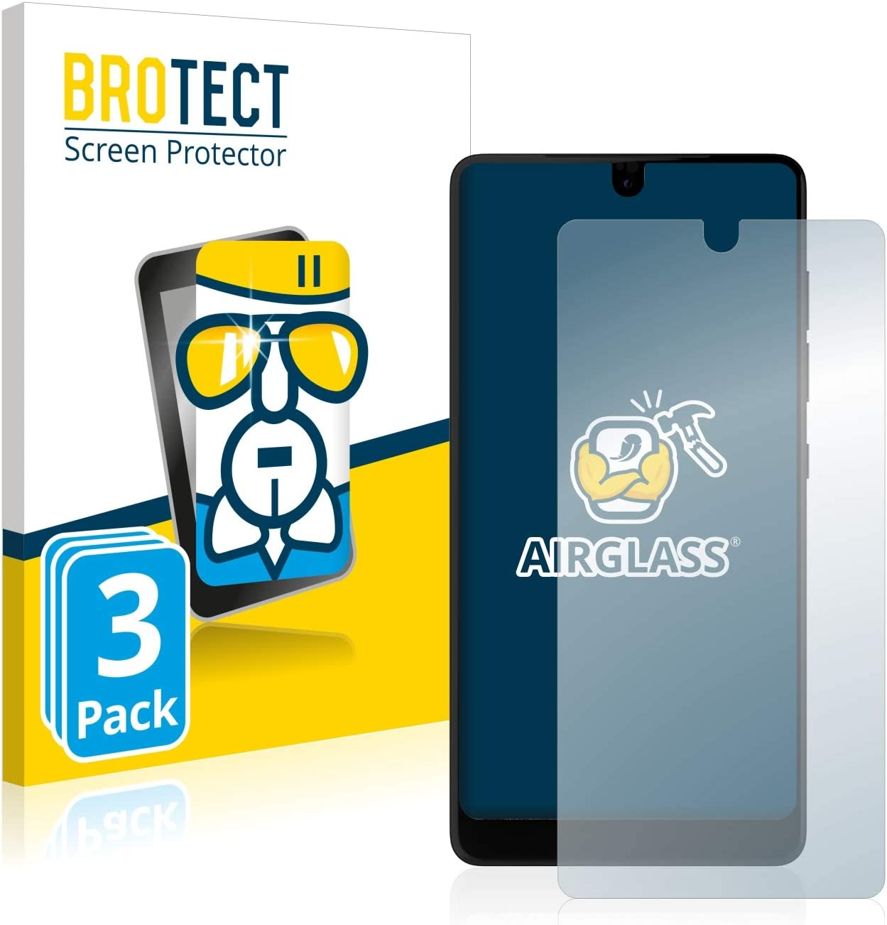 BROTECT Protector Pantalla Cristal Compatible con Essential PH-1 ...