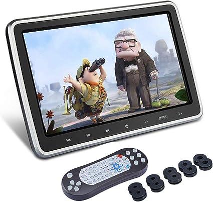 XYBJP Reproductor De DVD para Reposacabezas De Coche De 10.1 Pulgadas para NiñOs, Sistema De Entretenimiento para Asientos Traseros De AutomóViles con Pantalla LCD, Entrada Hdmi HD De Soporte: Amazon.es: Coche y