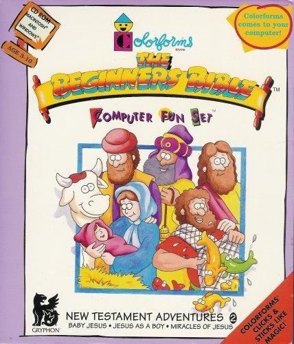 Colorforms The Beginner's Bible Computer Fun Set - New Testament Adventures 2 - Baby Jesus, Jesus as a Boy, Miracle of Jesus (Bible Computer Software)
