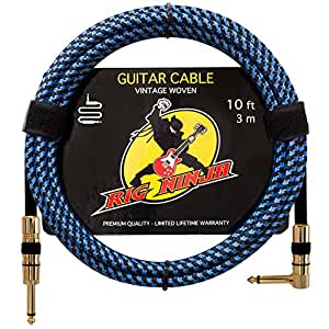 rig ninja guitar cable premium musical instruments cable electric guitar bass. Black Bedroom Furniture Sets. Home Design Ideas