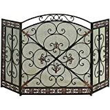 Amazon Com French Country White Iron Fireplace Screen