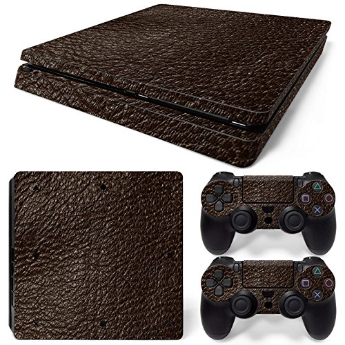 ModFreakz® Console/Controller Vinyl Skin Set - Leather Print for PS4 Slim
