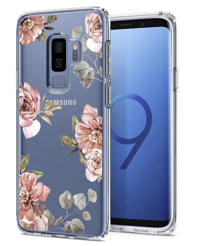 Spigen Liquid Crystal Galaxy S9 Plus Case Light but Durable Flexible Clear TPU Protection Samsung Galaxy S9 Plus (2018) - Blossom Flower