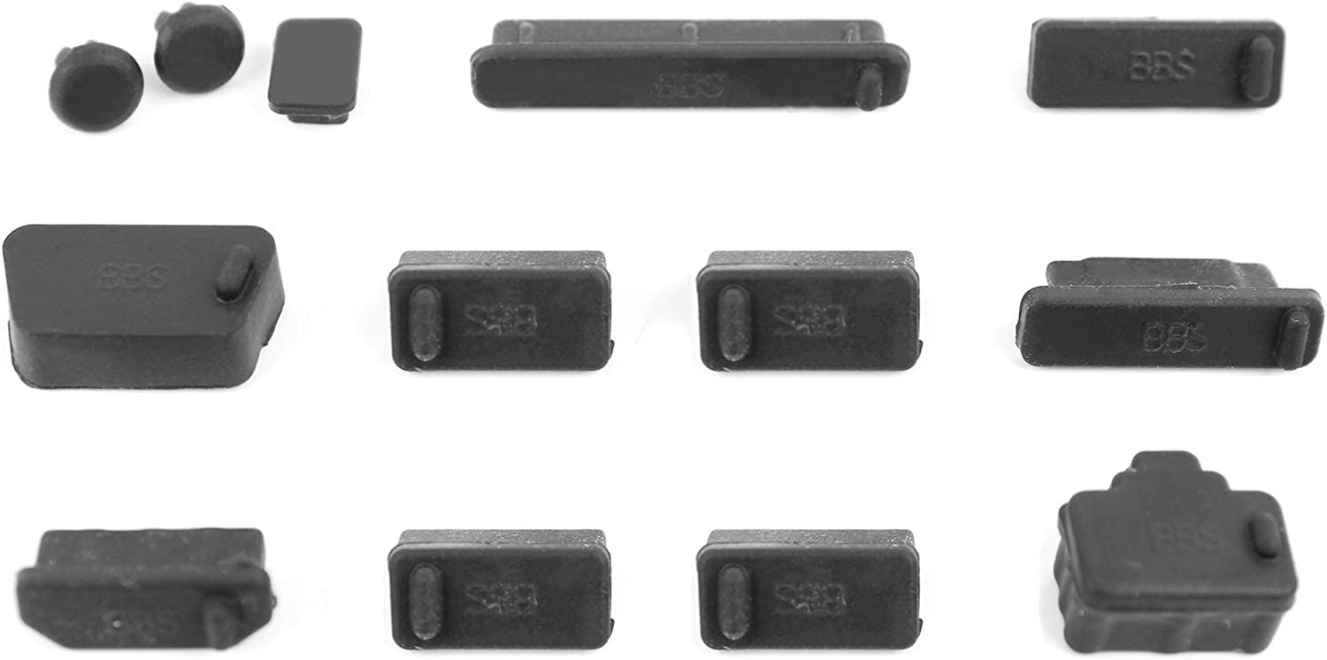 DURAGADGET Protective Black Dust Port Covers/Protection Guards for The Acer Aspire 3 A315-51-39WQ