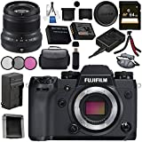 Fujifilm X-H1 Mirrorless Digital Camera (Body Only) 16568731 XF 50mm f/2 R WR Lens (Black) 16536611 Bundle