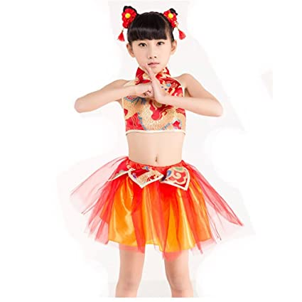 d54247fb0986 Byjia Children Jazz Dance Costumes Loose Boys Girls Kids Stage ...