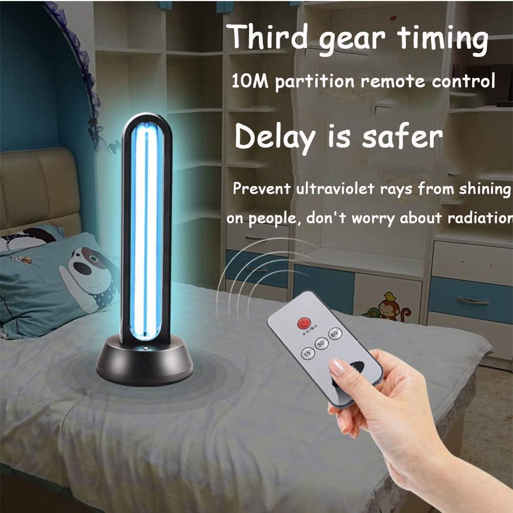 puerhki Ultraviolet Disinfection lamp 38W Household Sterilization lamp 10 Meters Remote Control Delayed Start Ozone de-mite lamp