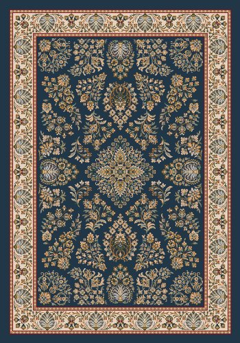 Pastiche Halkara Candle Blue Rug Rug Size: Oval 3'10