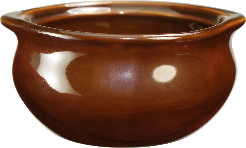 ITI-OSC-12 Onion Soup Crock, 12-Ounce, 48-Piece, Caramel