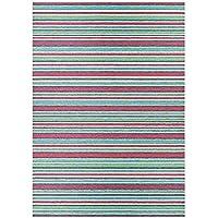 Couristan 14030010020037T Cape Brockton Indoor/Outdoor Machine Made Area Rug, 2 x 37, Purple/Multicolor