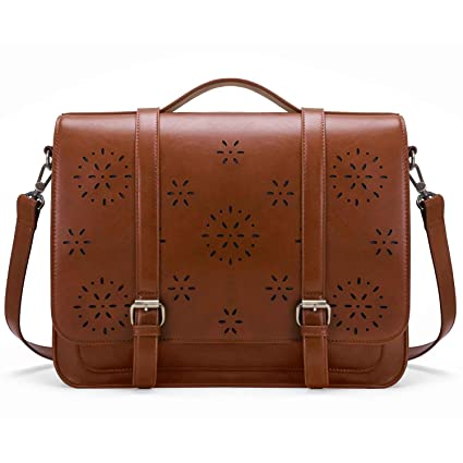d52f7b4182b Image Unavailable. Image not available for. Color  ECOSUSI Women Briefcase PU  Leather Laptop Backpack Shoulder Computer Bag Messenger ...