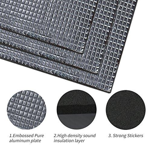 Fireproof Insulation (Guteauto 236 mil 15 sqft Sound Deadening Deadener Insulation Mat Automotive Deadener Wall Soundproofing Foam Panels 55