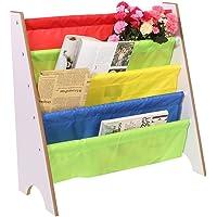 Zerone Libro de Madera Estante del almacenaje, Multicolor