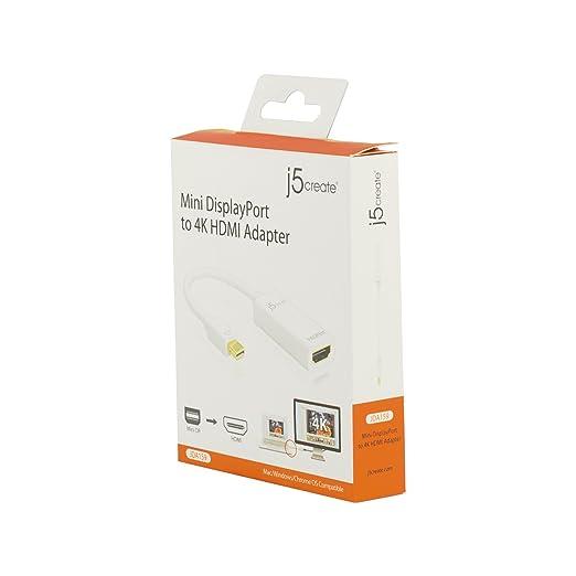 Amazon.com: j5create Mini DisplayPort to 4K HDMI Adapter JDA159 Mini DP 1.2 Compatible with MacBook Pro/Mac Pro/Mac Mini/iMac (White): Home Audio & Theater