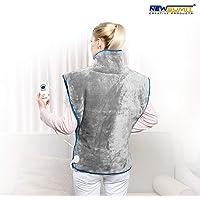 NEWSUMIT Heizkissen Nacken Schulter und Rücken - Schmerzlinderung - 3 Temperaturstufen - Schnelles Aufwärmen - Automatischer Abschaltschutz 90min - 60x90cm.