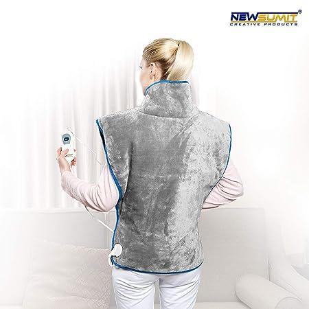 NEWSUMIT Heizkissen Nacken Schulter und Rücken - Schmerzlinderung - 3 Temperaturstufen - Schnelles Aufwärmen - Automatischer