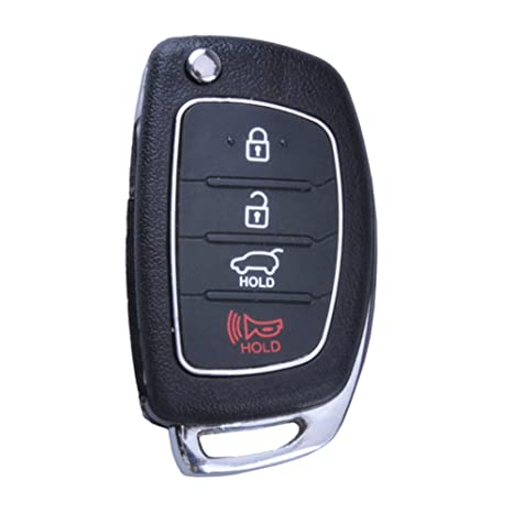 Uncut Blade Flip Entry Keyless Remote Key Shell Fob Key case 4 Buttons fit for 2013 2014 Hyundai Santa Fe 2013 2014 Santa Fe 4-door