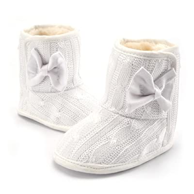 Baby Soft Sole Bowknot Boots Warm Comfortable Infant Newborn Prewalker Snow Boots Crib Shoes