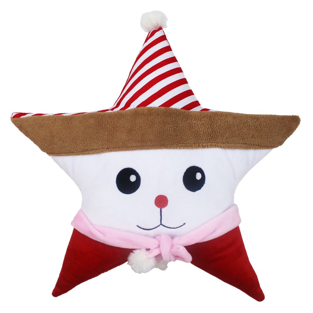 Missley Christmas Cute Animal Star Pillow For Sofa Decor Seat cushion Xmas Soft plush pillows support 05 (Rabbit)