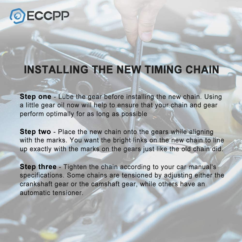 ECCPP Timing Chain Kit fits for 1999 2000 2001 2002 Volkswagen Golf 2.8 Upper-Single Row Chain VR6 AFP 61YfM2B8zBhLSL1000_
