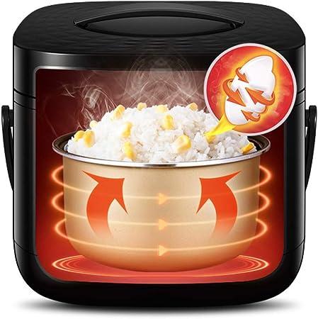 Rice cooker Máquina para Hacer arroz Multifuncional con vaporizador, pequeña Olla arrocera con Temporizador y manija de 24 Horas, Olla arrocera eléctrica antidesbordante (Color : Negro): Amazon.es